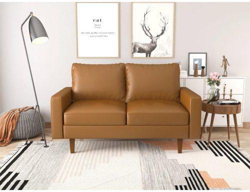 "Serene 58"" KD PVC Loveseat sofa Wholesale at Bwanaz.com"
