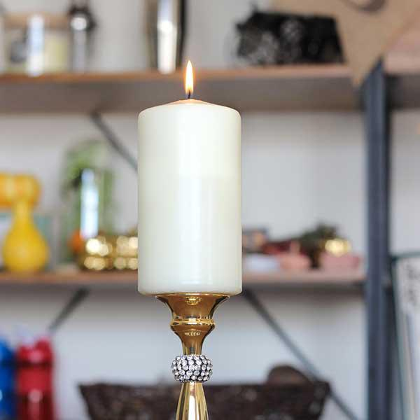 Romantic Pillar Candle for Home Decor, Relaxation, Wedding, Party, or Outdoor Dining
